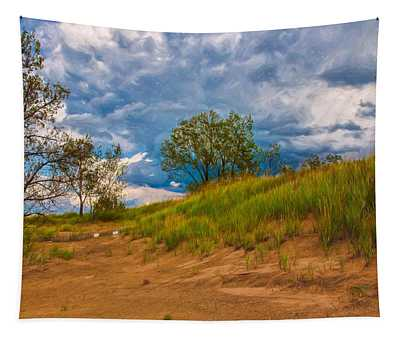 Sand Dunes At Indian Dunes National Lakeshore Tapestry