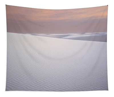 Sand Dunes Of Gypsum In The Morning Tapestry