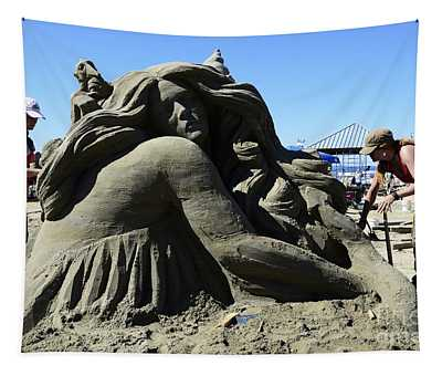 Sand Sculpture 1 Tapestry