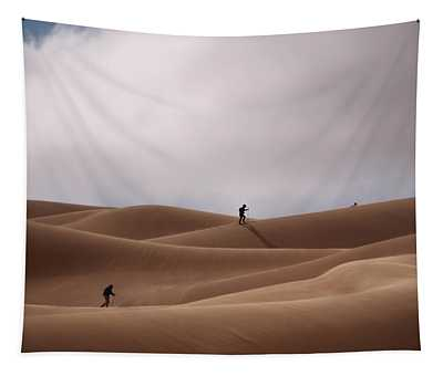 Sand Skiing Tapestry