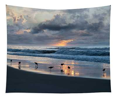 Sandpipers In Paradise Tapestry