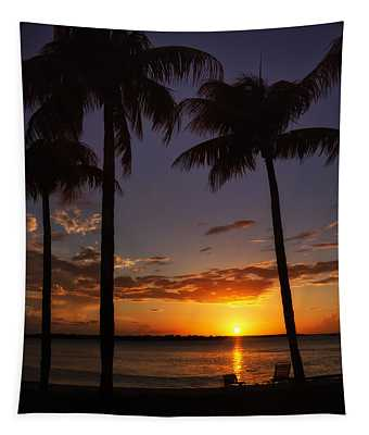 Sanibel Island Sunset Tapestry