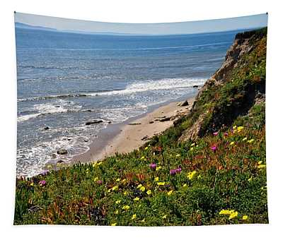 Santa Barbara Beach Beauty Tapestry