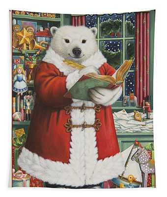 Santa Bear Tapestry