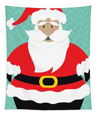 Santa Claus With Medium Skin Tone Tapestry