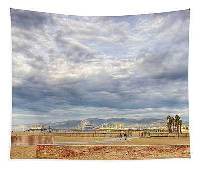 Santa Monica Beach Tapestry