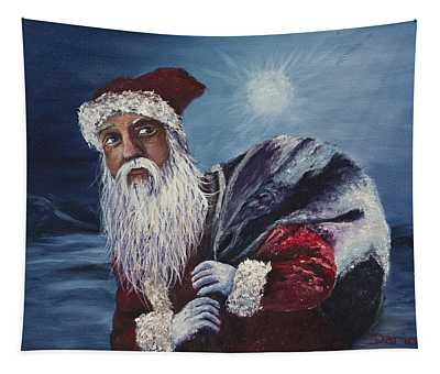 Santa With His Pack Tapestry