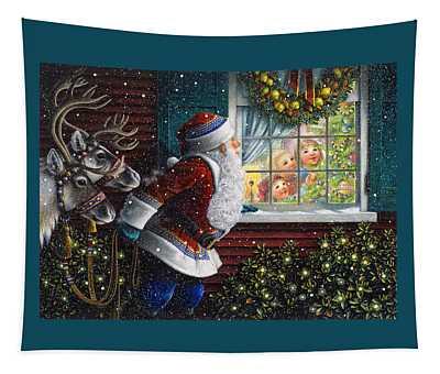 Santa's At The Window Tapestry
