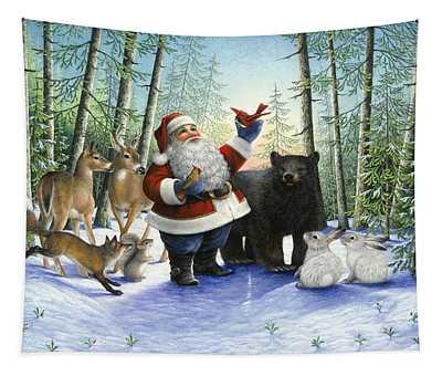 Santa's Christmas Morning Tapestry