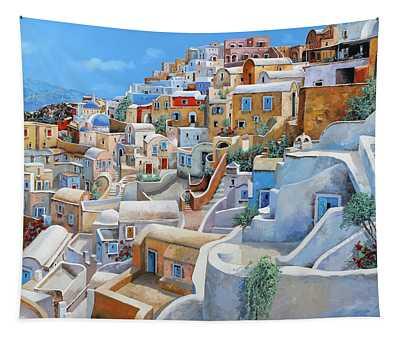 Santorini A Colori Tapestry