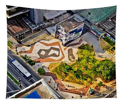 Sao Paulo Downtown - Geometry Of Public Spaces Tapestry