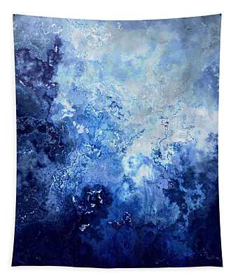 Sapphire Dream - Abstract Art Tapestry