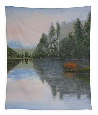 Sarita Lake On Vancouver Island Tapestry