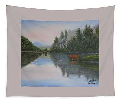 Sarita Lake On Vancouver Island Tapestry