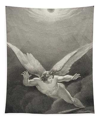 Satan Leaps Over The Walls Of Heaven Tapestry
