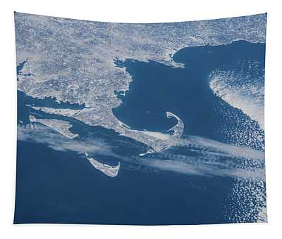 Satellite View Of Cape Cod Area Tapestry