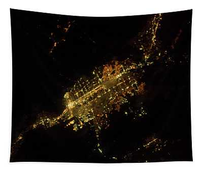 Satellite View Of Las Vegas, Nevada, Usa Tapestry