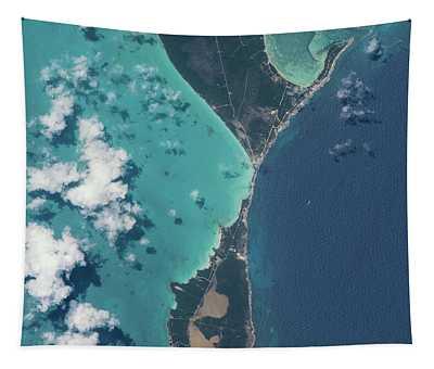 Satellite View Of North Eleuthera Tapestry
