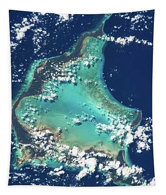 Satellite View Of Turks And Caicos Tapestry