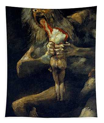 Saturn Devouring His Son Tapestry