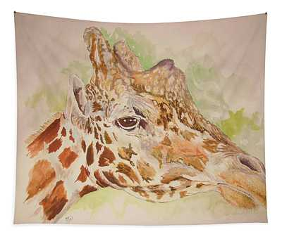 Savanna Giraffe Tapestry