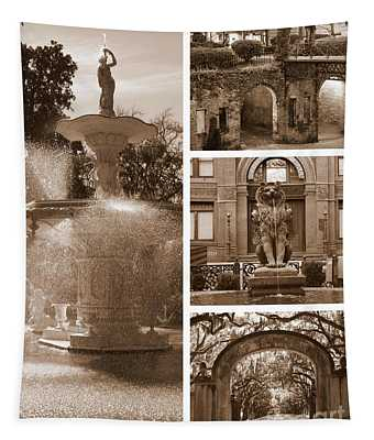 Savannah Scenes Collage In Sepia Tapestry