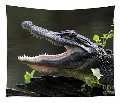 Say Aah - American Alligator Tapestry