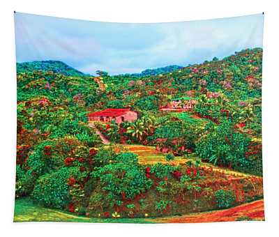 Scene From Mahogony Bay Honduras Tapestry