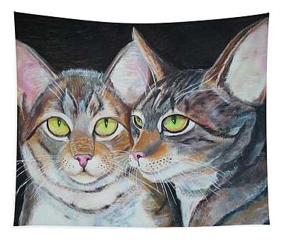 Scheming Cats Tapestry
