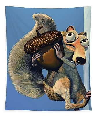 Scrat Of Ice Age Tapestry