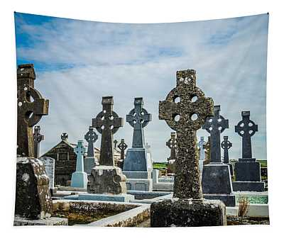 Tapestry featuring the photograph Sea  Of Celtic Crosses by James Truett