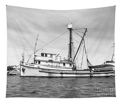 Purse Seiner Sea Queen Monterey Harbor California Fishing Boat Purse Seiner Tapestry