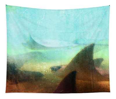 Sea Spirits - Manta Ray Art By Sharon Cummings Tapestry