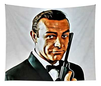 Sean Connery As James Bond Tapestry