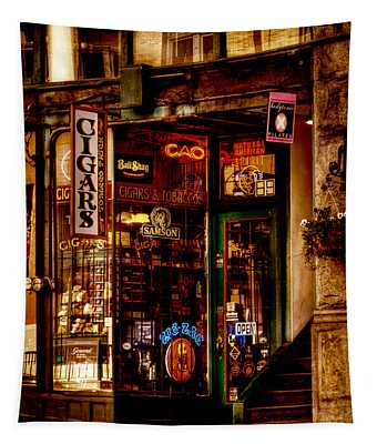 Seattle Cigar Shop Tapestry