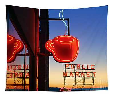 Seattle Coffee Tapestry