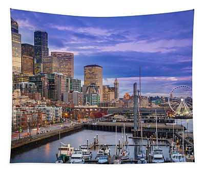 Seattle Great Wheel Tapestry