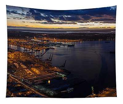 Seattle Monday Night Football Tapestry