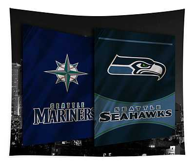 Seattle Sports Teams Tapestry
