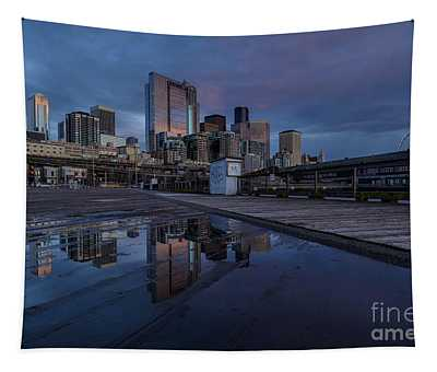 Seattle Sunset Skies Pool Tapestry