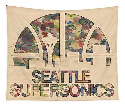 Seattle Supersonics Poster Vintage Tapestry