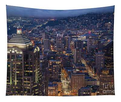Seattle Urban Details Tapestry