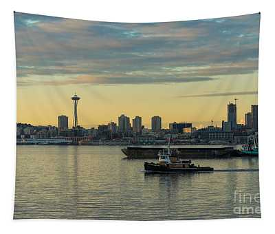 Seattles Working Harbor Tapestry