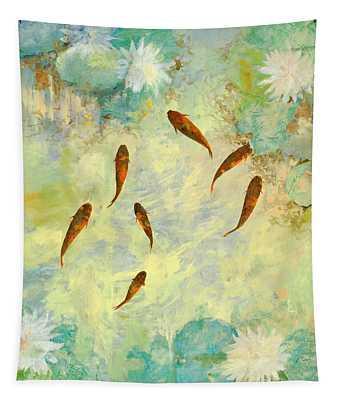 Sei Pesciolini Verdi Tapestry