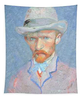 Self-portrait With Gray Felt Hat Tapestry