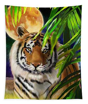 Second In The Big Cat Series - Tiger Tapestry