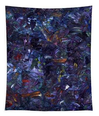 Shadow Blue Square Tapestry