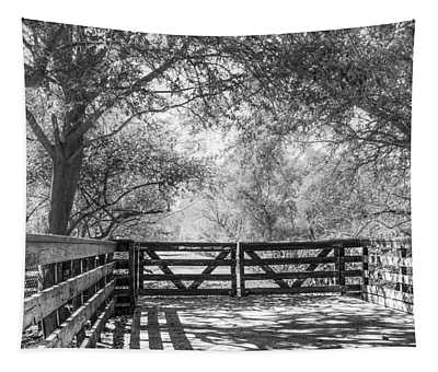 Shadows On The Trail Tapestry