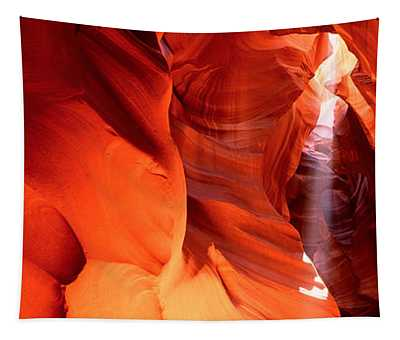Shaft Of Sunlight In A Canyon, Antelope Tapestry