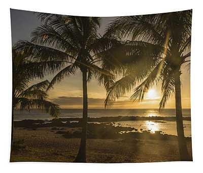 Sharks Cove Sunset 2 - Oahu Hawaii Tapestry